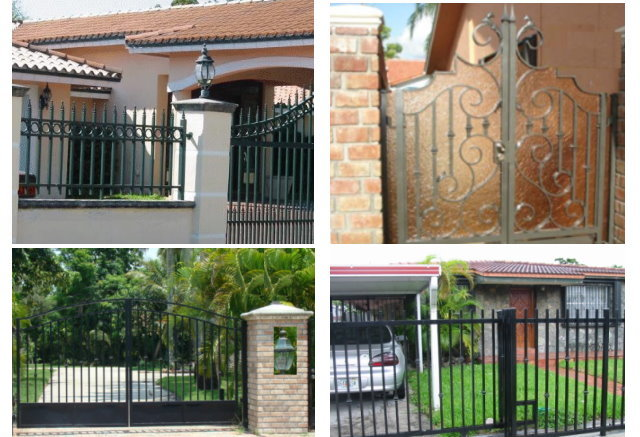 Fences & Gates Designs Home page miami fencemiami iron work aluminum gate fence miami iron work phone 305951 7218 miami fence workwithnaturefo